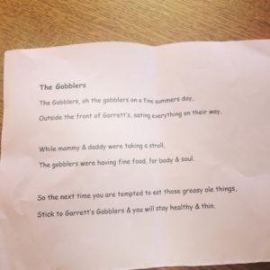 Gobblers poem