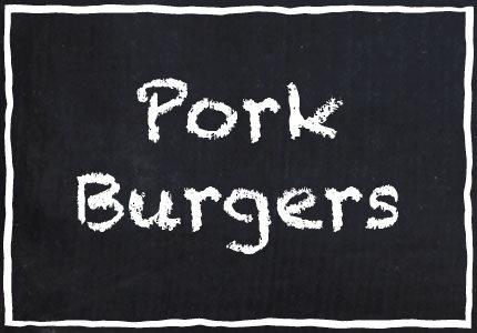 Garretts Pork Burgers